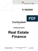 Real Estate Finance Curriculum