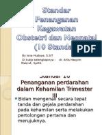 Standar Penanganan Kegawatan Obtetri Dan Neonatus