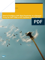 How to Configure SAP Web Dispatcher as Reverse Proxy for SAP CRM or SAP ECC Using HANA Cloud Integration