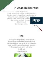 Peralatan Asas Badminton