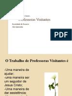 Professoras Visitantes