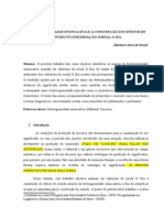A Heterogeneidade Enunciativa e a Construção Dos Efeitos de Sentido No Editorial Do Jornal O Dia