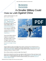 Japan's Smaller Military Could Match China 05-05-14