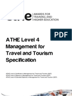 ATHE Level 4 Management for Travel and Tourism Specification
