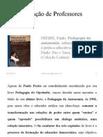 Pedagogia Da Autonomia (Miquelina)