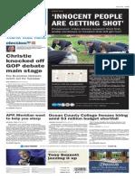 Asbury Park Press front page Friday, Nov. 6 2015