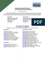 online content bills in 110th Congress (CDT-PFF)