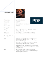 Modelul de CV european prin ochii unui tanar actor