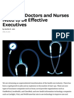 The Skills Doctors and Nurses Need to Be Effective Executives