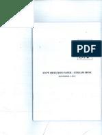 KVPY 2015 SX-SB Question Paper