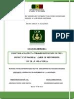 Memoire de Master II en Gestion Du Transport Et de La Logistique