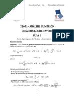 23051 - Analisis Numerico - 2015 - S1 - Desarrollos de Taylor - Guia 01 - Mg c Ing. Civil. Mec. Marcelo Gallardo Maluenda