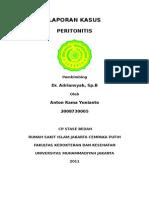 Laporan Kasus Peritonitis difusa RS Jakarta