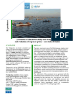 Assessment of climate variability and change impacts and evaluation of response options -  case study of Tunisia