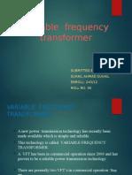 Docslide.us Variable Frequency Transformer Ppt