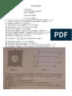 test matematica cls 8