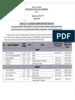 2016 schedule of board exam