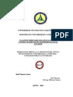 El Ajuste Tributario Por Aplicación Del Control de Precios de Transferencia en El Ecuador