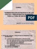 Tipos de Costos y Presupuestos Mineros y Su Estimados