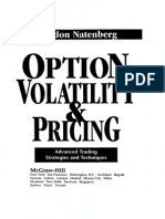 Option Volatility & Pricing Advanced Trading Strategies and Techniques - Sheldon Natenberg