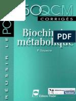 Biochimie Métabolique - 150 QCM