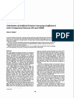 Calculation of Artificial Friction Conveying Coefficient f, And a Comparison Between ISO and CEMA