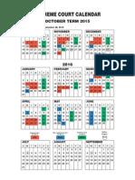 Supreme Court's 2015 Term Calendar
