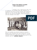 Presentation of the Folklorical Ensemble FIII CAMARASULUI