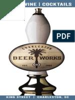 Charleston Beer Works Drink Menu