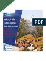 Sondage Ipsos FR3 Régionales2015