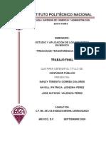 Precios de Transferencioa en Mexico 2009