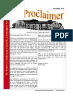 November 2015 Proclaimer