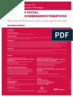 cartaz 4 ciclo de seminariostematicos pedagogia social