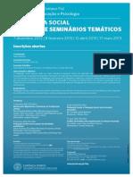cartaz 2 ciclo de seminariostematico pedagogia social