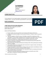 Resume of Ms. Jonaliza Dar-Gutierrez