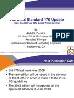 Ashrae Std 170 Update