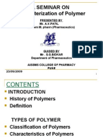 Characterization of Polymer