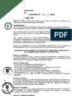 ORDENANZA 051-2010/MDSA