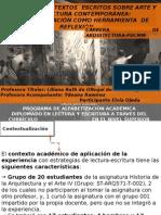 Producción de Textos Escritos Sobre Arte y Arquitectura Contemporánea