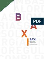 Catálogo y Precios Baxiroca 2015