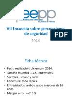 Encuesta Percepción de Seguridad Nicaragua 2014 Ieep