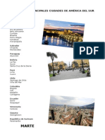 Lista de Las Principales Ciudades de América Del Sur