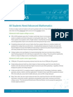 Achieve Math Works Fact Sheet - All Students Need Advanced Math