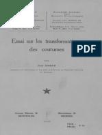 Hum.sc.(NS)_T.v,8_SOHIER J._essai Sur Les Transformations Des Coutumes_1956