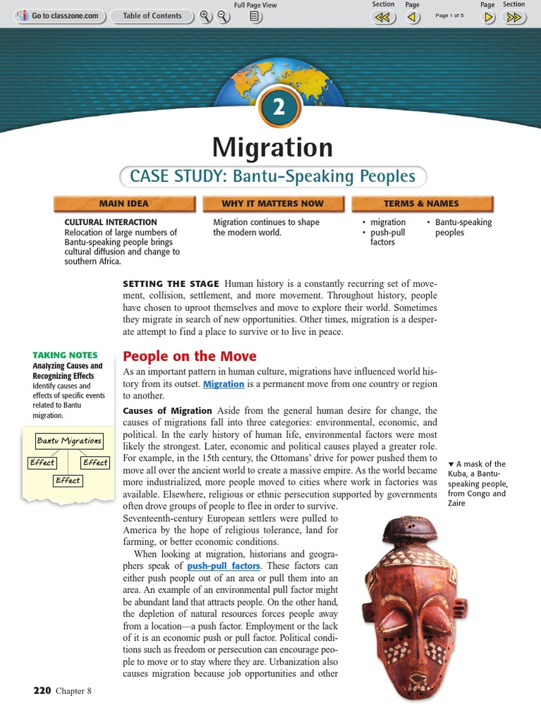 the economic causes of migration