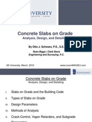 2015 03 11 - Concrete Slabs on Grade | Geotechnical