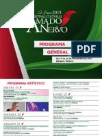 Cartelera Festival Cultural Amado Nervo 2015