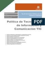 Politica Tecnologias de Informacion y Comunicacion TIC