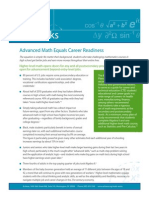 Advanced Math Equals Career Readiness