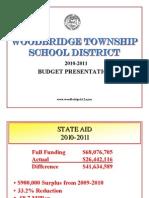 Presentation of 2010-11 Woodbridge School Budget